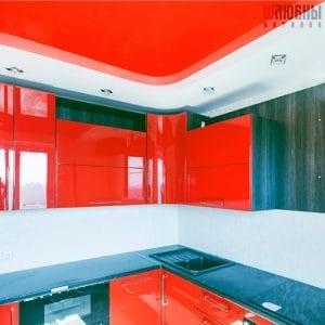 Двухуровневый потолок в кухню